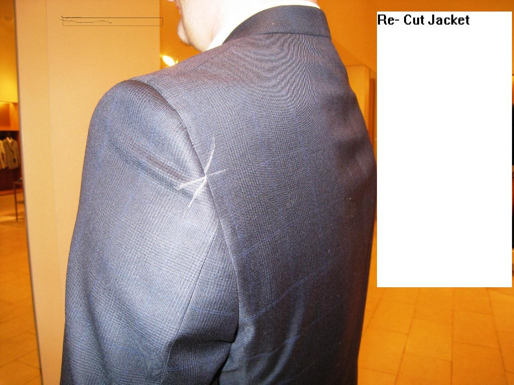2  Re-cut jacket  reduce front, fix sleeves