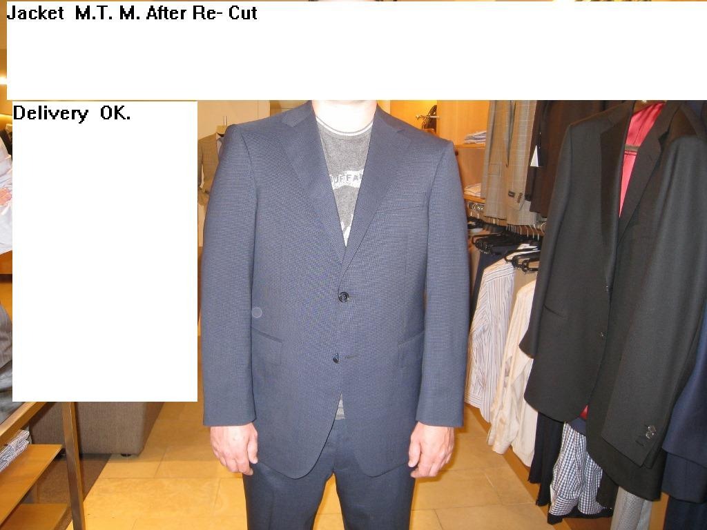 5  Re-cut jacket  reduce front, fix sleeves