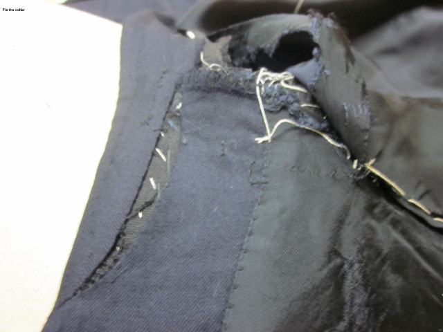 How to fix collar when it does not sit on the neck  6